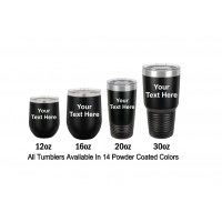 Stainless Steel Tumblers Text or Graphic Engraving