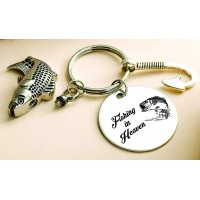 Cremation Urn Keychain Fish Hook