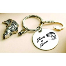 Cremation Urn Keychain Fish Hook