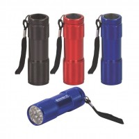 9-LED Flashlight with Strap