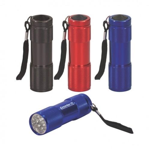 9-LED Flashlight with Strap