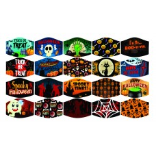 Face Mask 2-Ply With Filter Pouch Halloween Designs