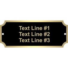 Black Brass ID Tags