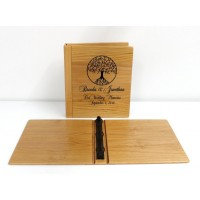 Personalized Alder Wood Photo Album With 3-Ring Binder