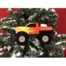 Personalized Christmas Ornament. Monster Truck