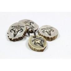 Personalized Deer Antler Key Ring