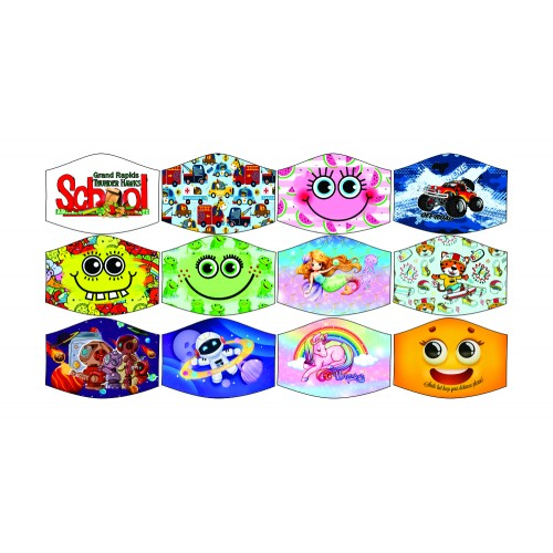 Face Mask 2-Ply Kids Designs